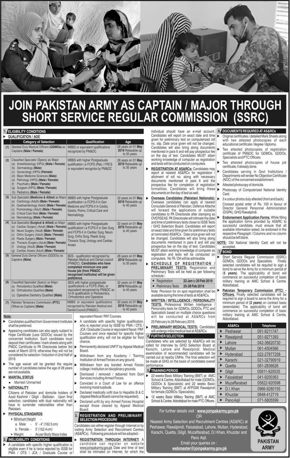 Jobs in pak army 2019 Commissioner Job in pak army Latest